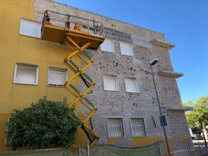 rehabilitacion fachada edificio sevilla